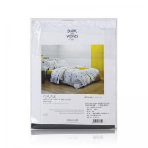 法国 Blanc des Vosges 高级密织100%纯棉网格系列被套 草绿【国内仓】