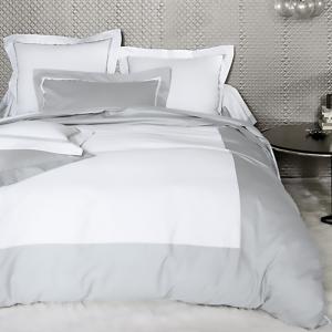 法国 Blanc des Vosges 100%缎纹棉安布瓦斯系列床单 银灰【国内仓】