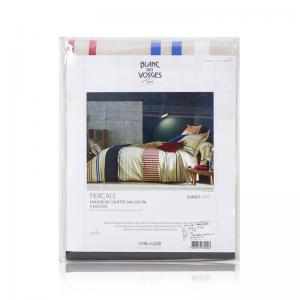法国 Blanc des Vosges 高级密织100%纯棉日落系列被套 银灰【国内仓】