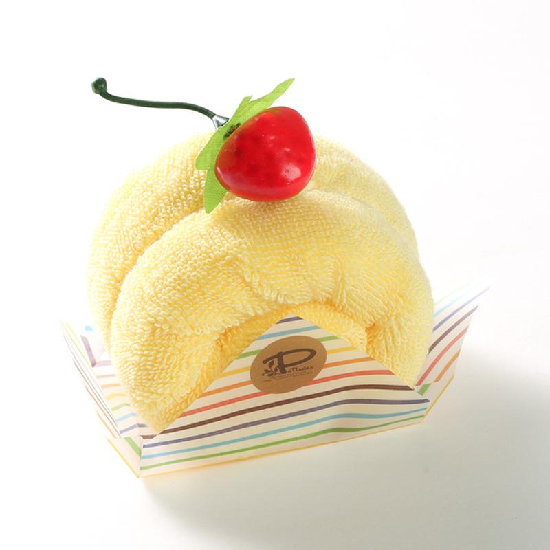日本 Prairie Dog 纯棉毛巾 卷心蛋糕毛巾手帕25×25cm 黄色【国内仓】