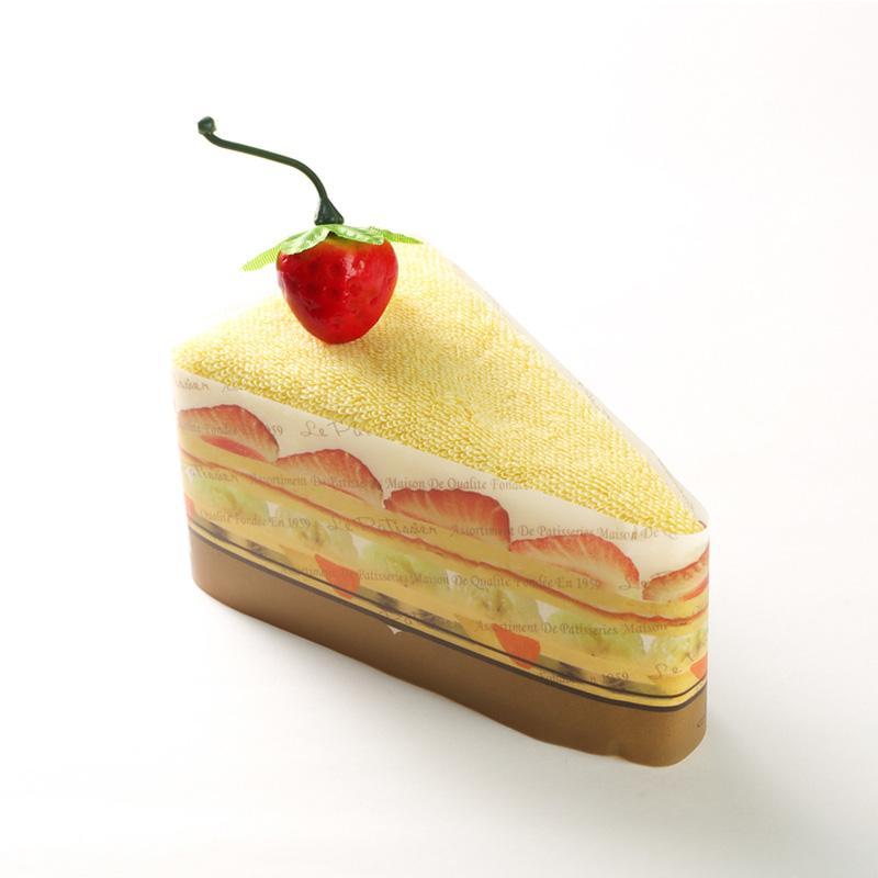 日本 Prairie Dog 纯棉毛巾 三角蛋糕毛巾手帕25×25cm 黄色【国内仓】