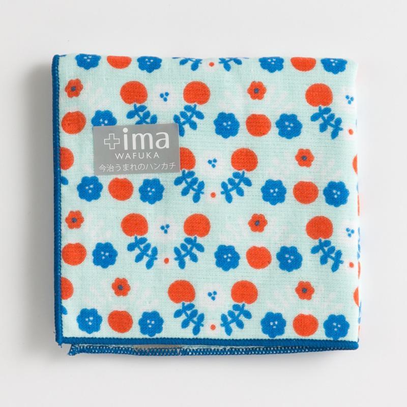日本 Prairie Dog +Ima和布華今治毛巾手帕24*24cm 花连花图案