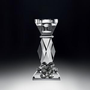 意大利 Ranoldi 多色花高纯度水晶烛台工艺礼品摆件 透明【国内仓】