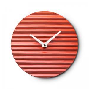 意大利 Sabrina Fossi 客厅装饰陶瓷波纹挂钟时钟钟表 大红【国内仓】