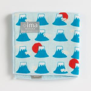 日本 Prairie Dog +Ima和布華今治毛巾今治手帕毛巾24*24cm 蓝色富士山图案【国内仓】