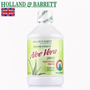 英国 Holland&Barrett荷柏瑞 芦荟汁 473ml 2瓶装