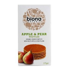 英国 Biona Organic Apple & Pear Waffles 华夫饼 175g