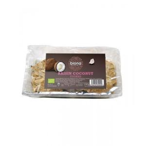英国 Biona Raisin & Coconut Cookies 饼干 240g