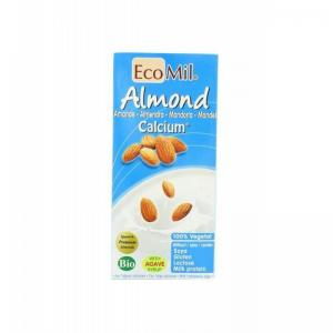 英国 Ecomil Almond Calcium No Added Sugar 杏仁饮料 1Ltrx...