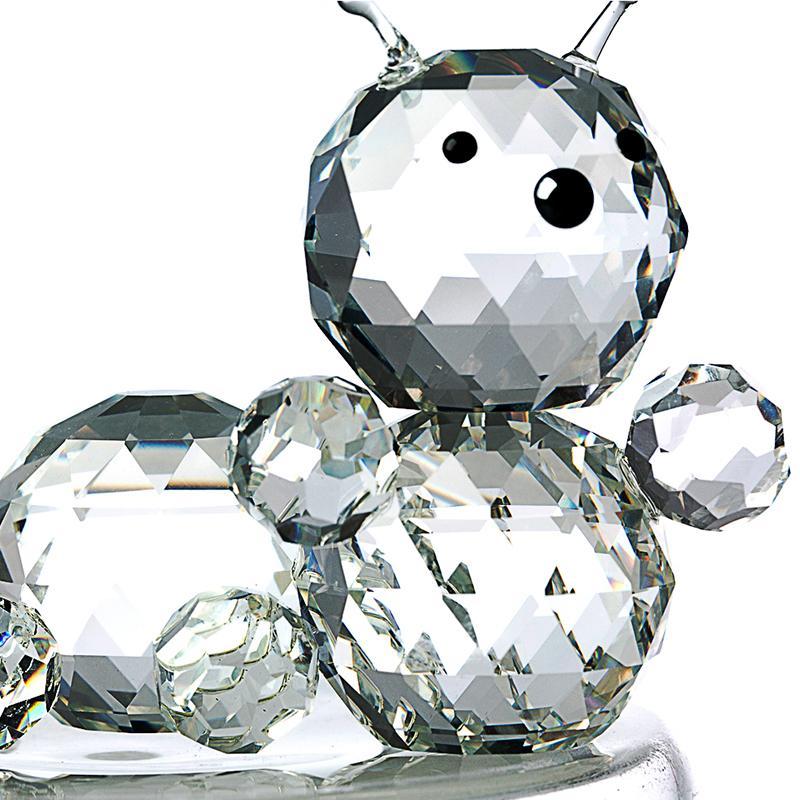 意大利 Ranoldi水晶摆件 毛毛虫造型水晶 家居工艺品摆件 透明【国内仓】