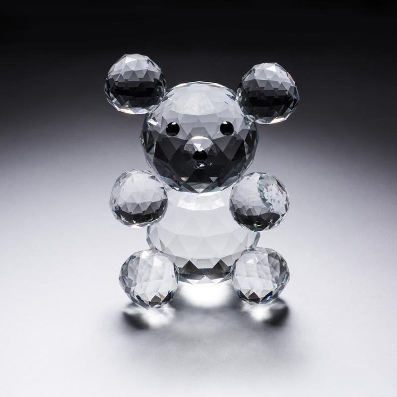 意大利 Ranoldi水晶摆件 泰迪熊水晶饰品 工艺品小摆件 透明【国内仓】
