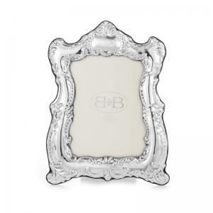 意大利 B&B 银手工相框摆台裱画框古典装饰图案 银白色【国内仓】