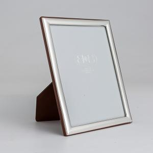 意大利 B&B 银制手工相框摆台裱画框窄边花纹 银色 M【国内仓】