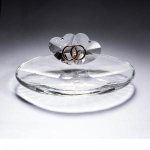 意大利 Ranoldi水晶摆件 永结同心首饰托 水晶礼品摆件 透明【国内仓】