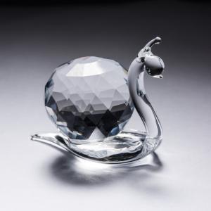 意大利 Ranoldi水晶摆件 蜗牛摆件饰品 室内家居水晶摆件 透明【国内仓】