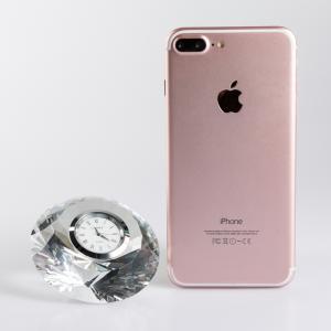 意大利 Ranoldi水晶摆件 钻石造型时钟 静音钟表家居摆件 透明【国内仓】